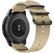 Strap-it® Samsung Galaxy Watch 3 - 45mm nylon gesp band (khaki)