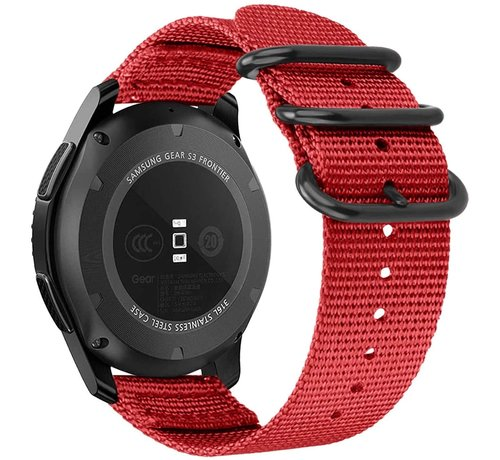 Strap-it® Strap-it® Samsung Galaxy Watch 3 - 41mm nylon gesp band (rood)