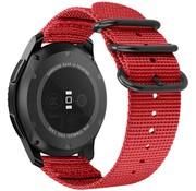 Strap-it® Garmin Vivoactive 4 nylon gesp band - 45mm - rood