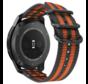Strap-it® Garmin Vivoactive 4 nylon gesp band - 45mm - zwart/oranje
