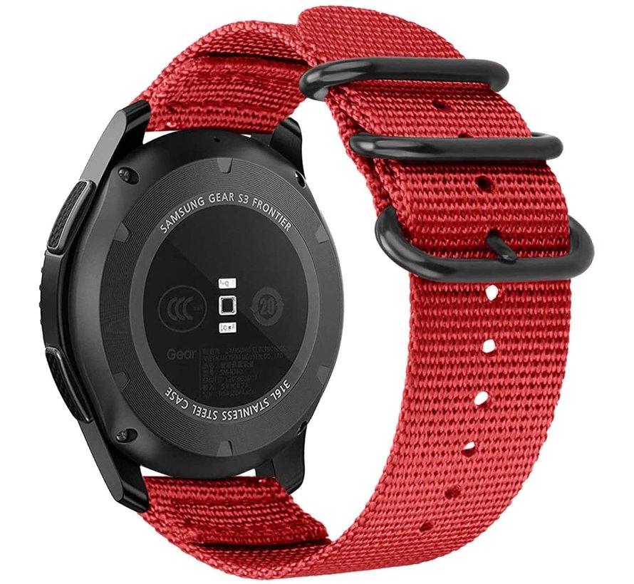 Strap-it® Garmin Vivoactive 3 nylon gesp band (rood)
