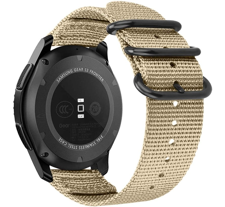 Strap-it® Garmin Venu nylon gesp band (khaki)