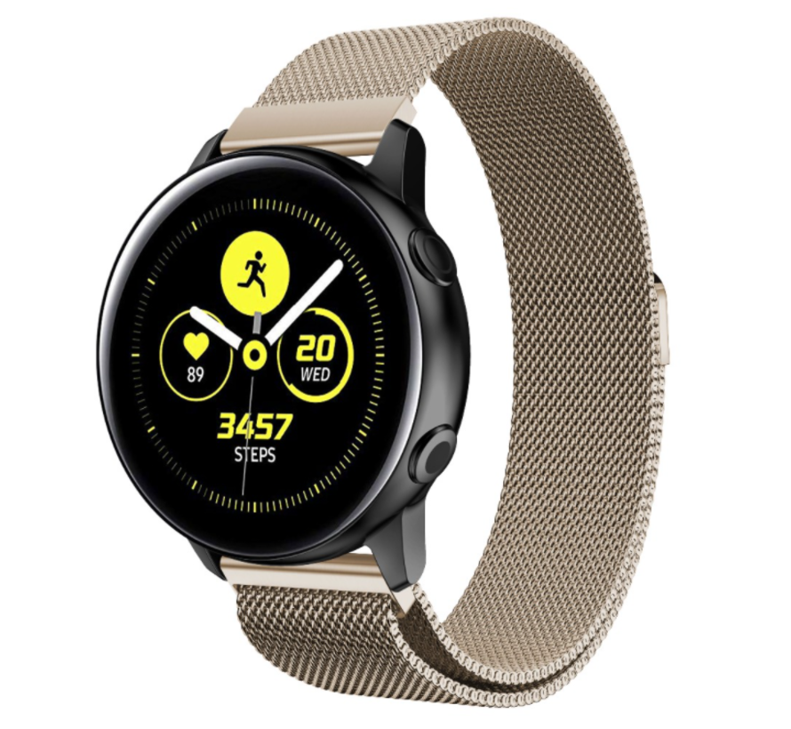 Strap-it® Samsung Galaxy Watch Active Milanese band (champagne)