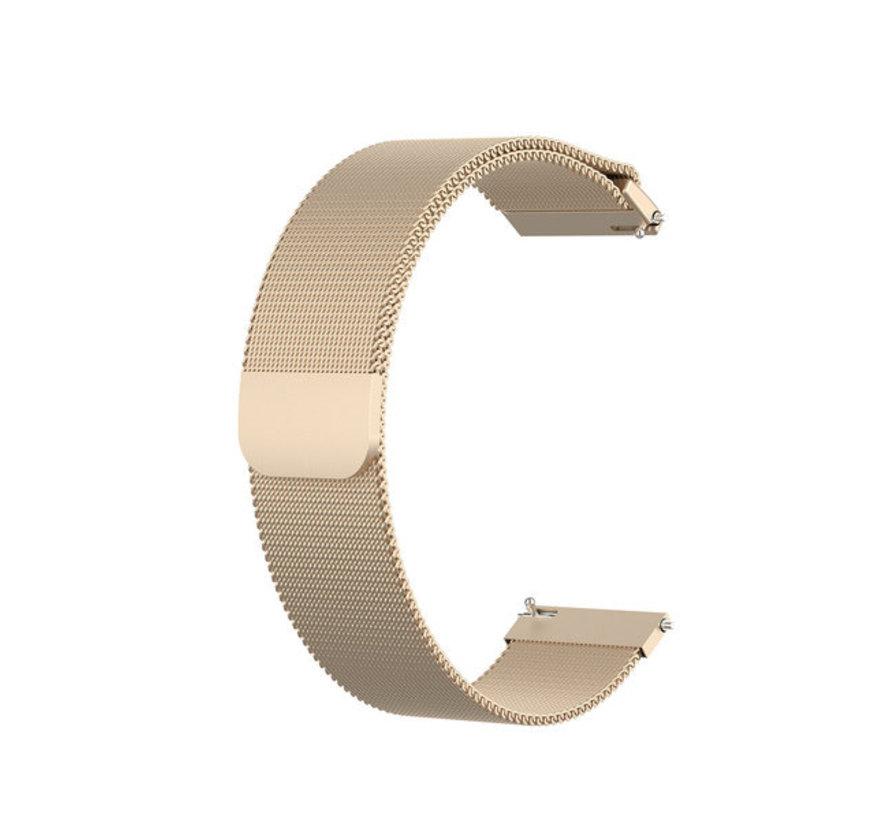 Strap-it® Garmin Vivoactive 4 Milanese band - 45mm - champagne