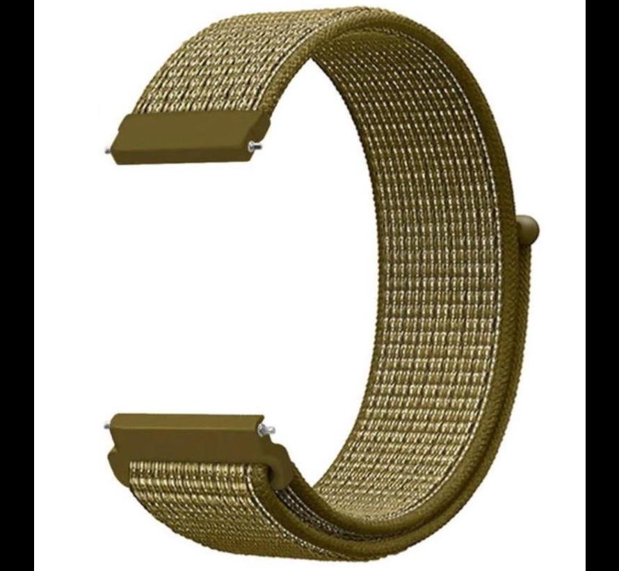 Strap-it® Samsung Galaxy Watch 3 - 41mm nylon bandje (olijf)