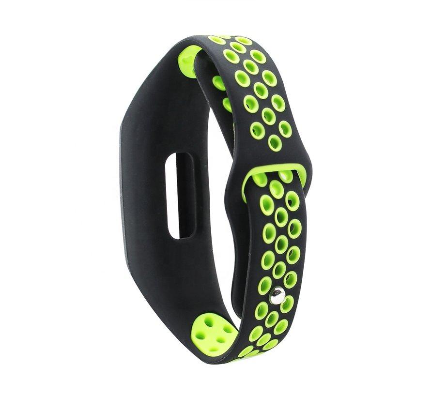 Strap-it® Honor band 4 / 5 sport band (zwart / groen)