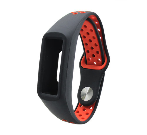 Strap-it® Strap-it® Honor band 4 / 5 sport band (zwart / rood)