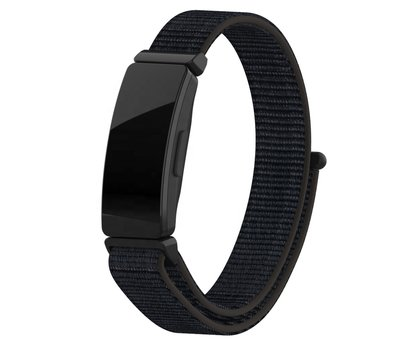 Strap-it® Strap-it® Fitbit Inspire nylon bandje (zwart)