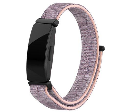 Strap-it® Strap-it® Fitbit Inspire nylon bandje (roze)