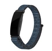 Strap-it® Fitbit Inspire nylon bandje (blauw-zwart)