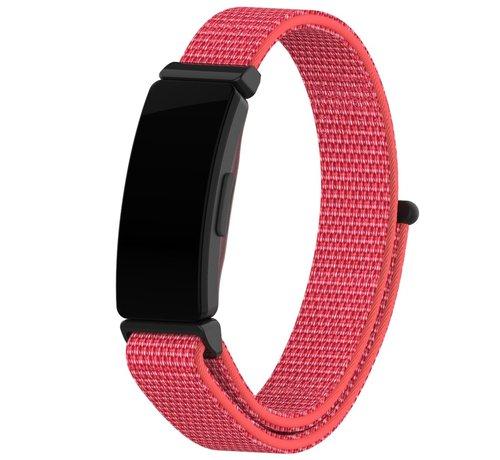 Strap-it® Strap-it® Fitbit Inspire nylon bandje (knalroze)
