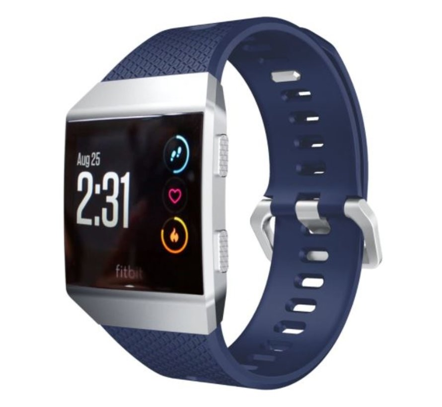 Strap-it® Fitbit Ionic siliconen bandje (donkerblauw)