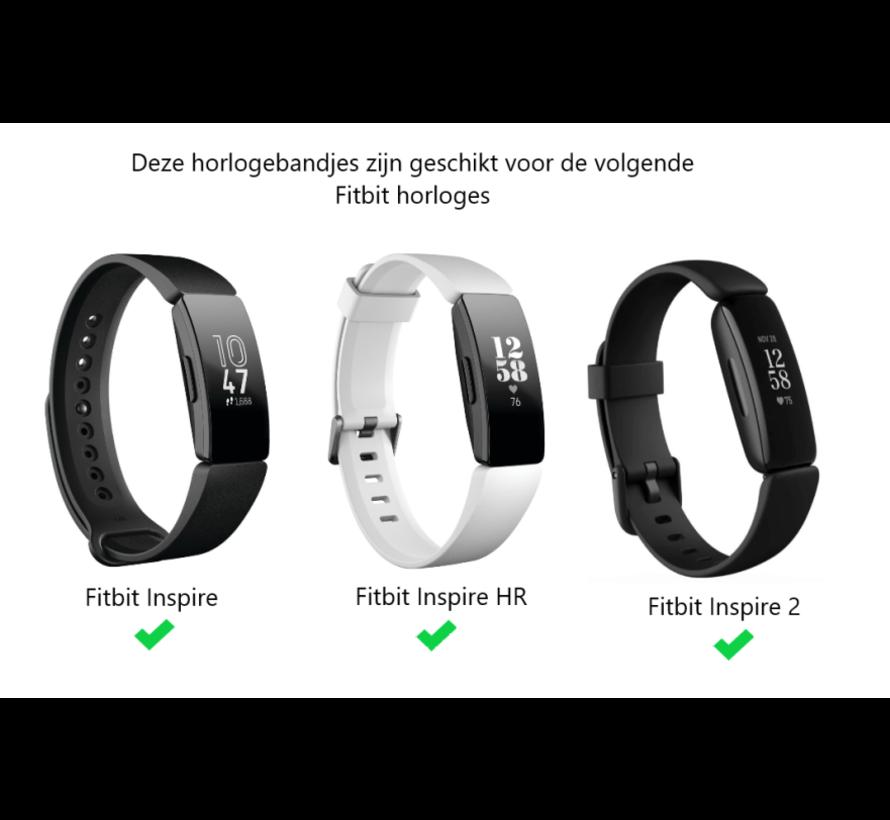 Strap-it® Fitbit Inspire leren bandje (wit)