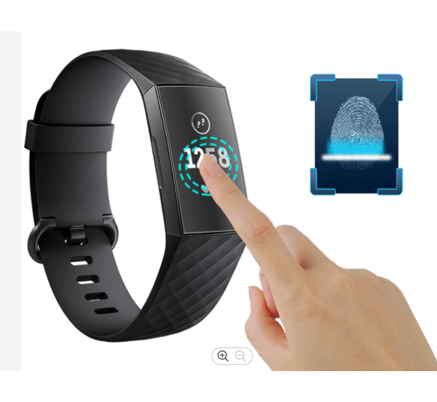 Strap-it® Fitbit Charge 4 screen protector plastic