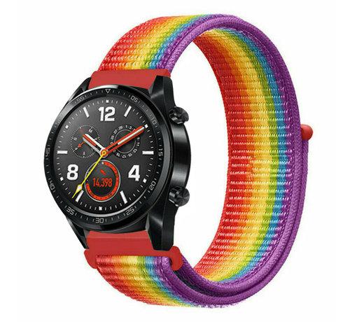 Strap-it® Strap-it® Huawei Watch GT nylon band (regenboog)