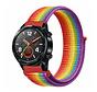 Strap-it® Huawei Watch GT nylon band (regenboog)
