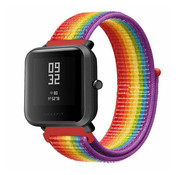 Strap-it® Xiaomi Amazfit Bip nylon band (regenboog)