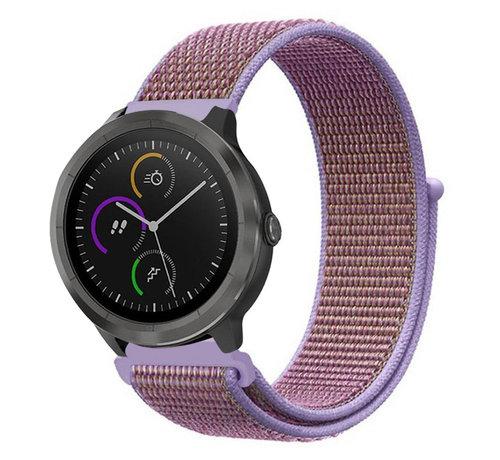 Strap-it® Strap-it® Garmin Vivoactive 4 nylon band - 45mm - lila