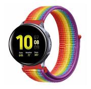 Strap-it® Samsung Galaxy Watch Active nylon band (regenboog)