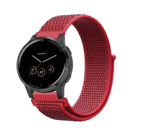 Strap-it® Strap-it® Garmin Vivoactive 4s nylon band - 40mm - rood