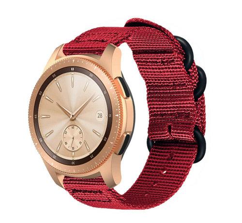 Strap-it® Strap-it® Samsung Galaxy Watch 42mm nylon gesp band (rood)