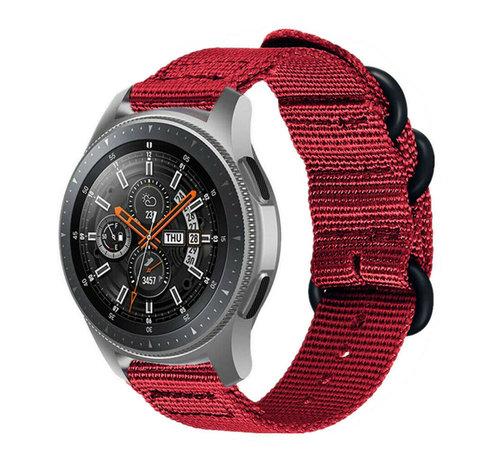 Strap-it® Strap-it® Samsung Galaxy Watch 46mm nylon gesp band (rood)