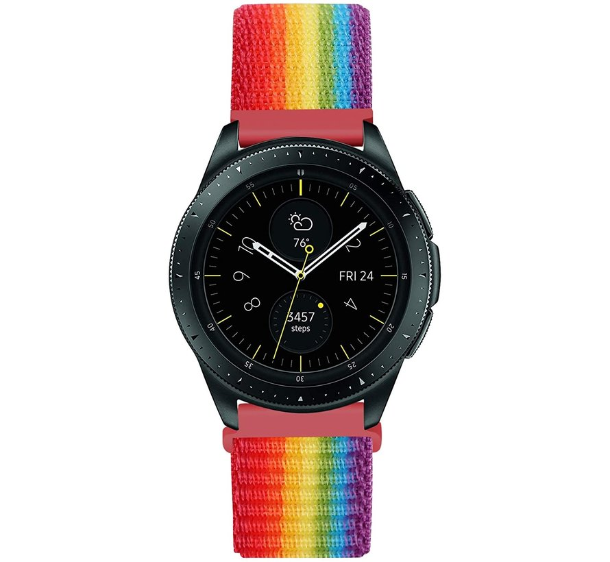 Strap-it® Samsung Galaxy Watch 42mm nylon band (regenboog)