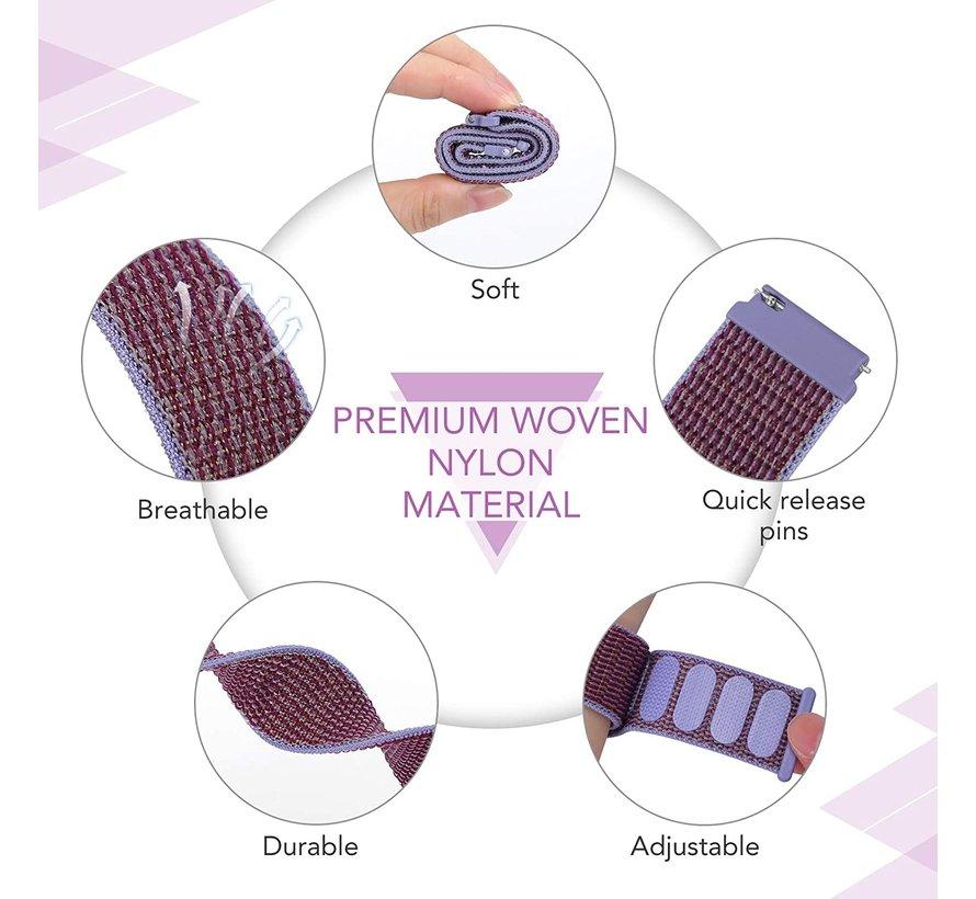 Strap-it® Garmin Venu nylon band (lila)