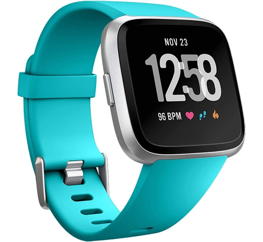 Strap-it® Fitbit Versa silicone band (turquoise)