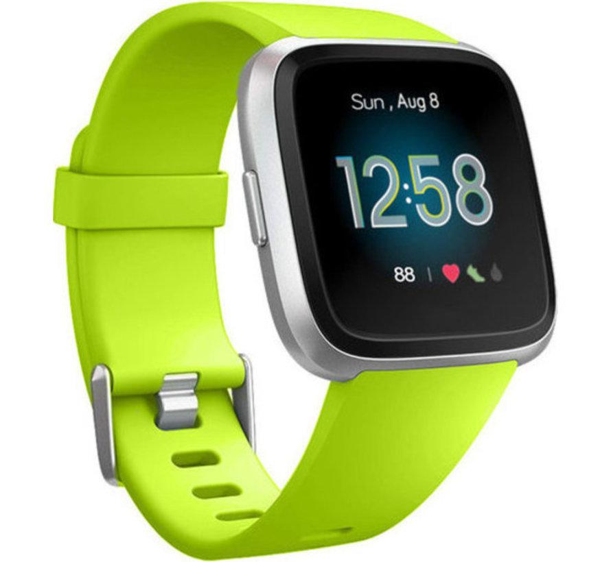 Strap-it® Fitbit Versa silicone band (lichtgroen)