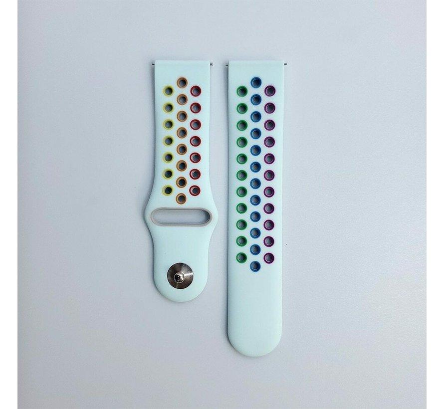 Strap-it® Garmin Vivoactive 3 sport band (lichtblauw kleurrijk)