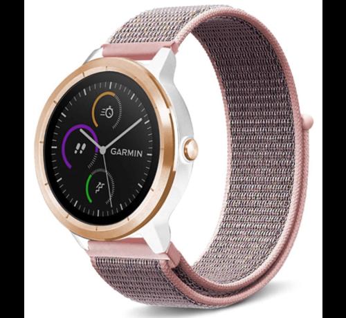 Strap-it® Strap-it® Garmin Vivoactive 4 nylon band - 45mm - pink sand