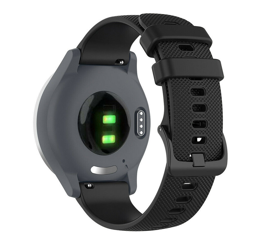 Strap-it® Garmin Venu 2s siliconen bandje - 40mm - zwart