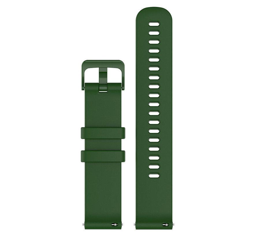 Strap-it® Garmin Venu 2s siliconen bandje - 40mm - legergroen