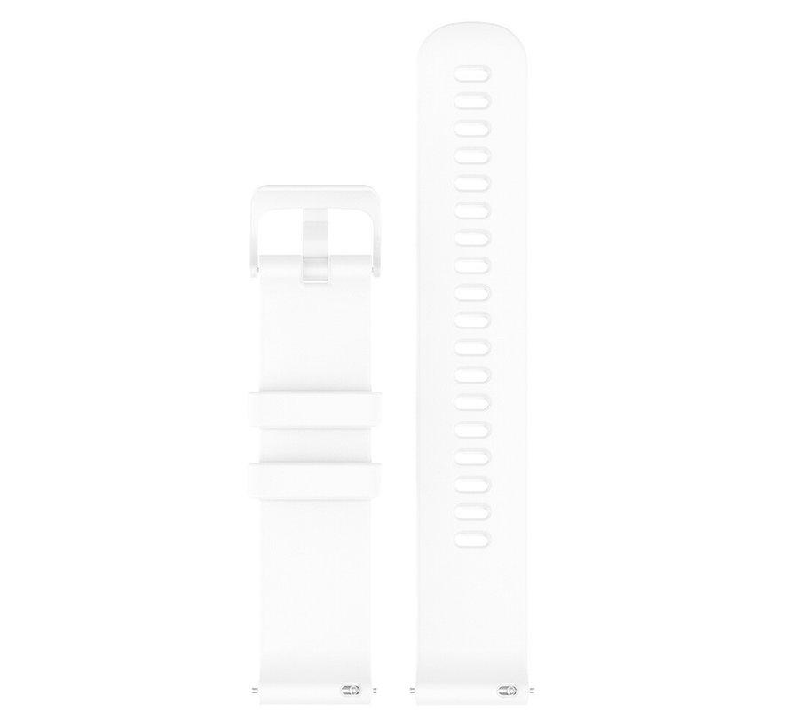 Strap-it® Garmin Venu 2s siliconen bandje - 40mm - wit