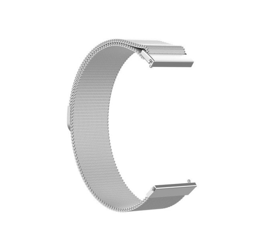 Strap-it® Garmin Venu 2s Milanese band - 40mm - zilver