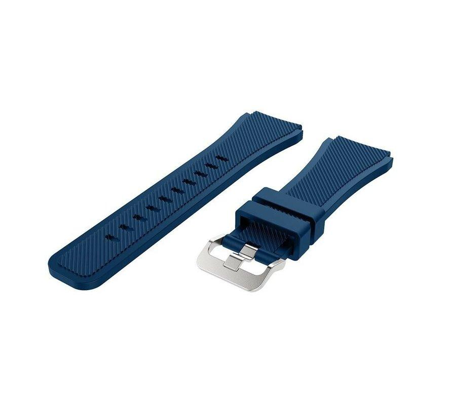 Strap-it® Garmin Venu 2 siliconen bandje - 45mm - donkerblauw