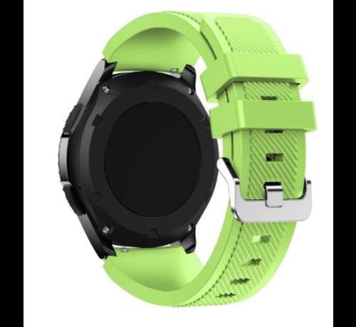 Strap-it® Strap-it® Garmin Venu 2 siliconen bandje - 45mm - lichtgroen