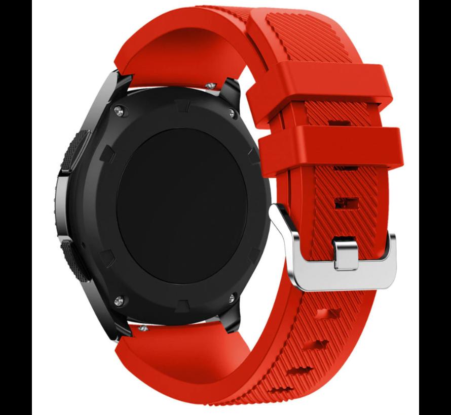 Strap-it® Garmin Venu 2 siliconen bandje - 45mm - rood