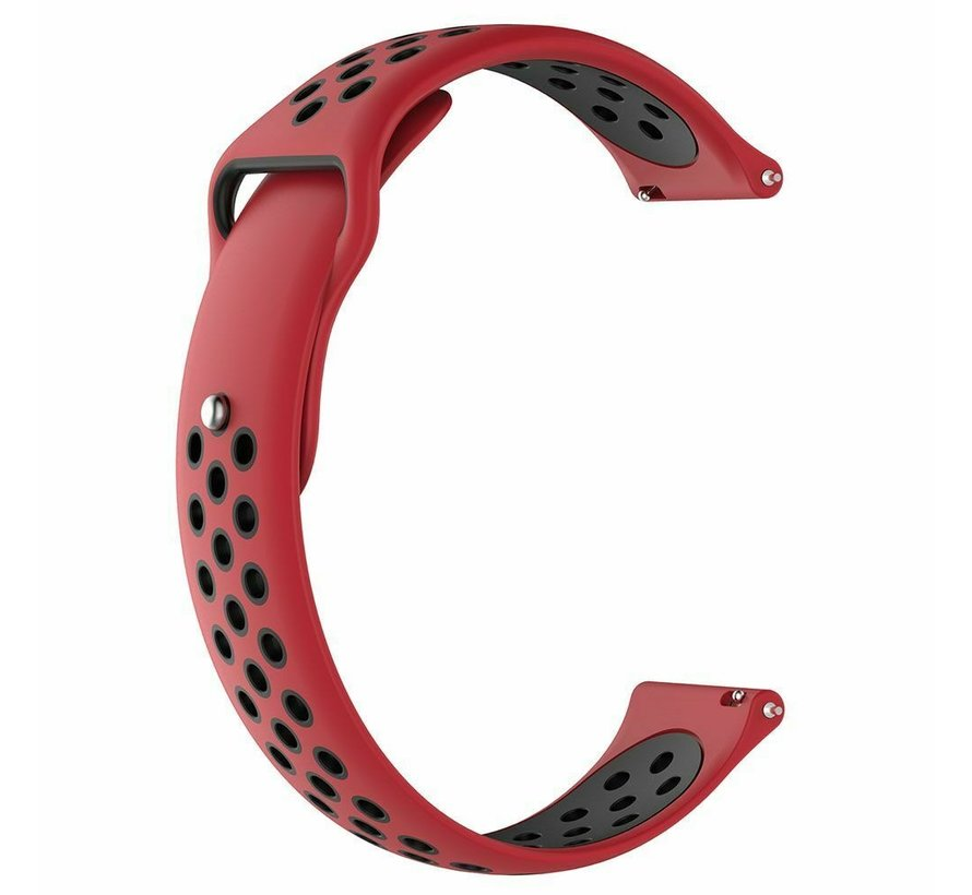 Strap-it® Garmin Venu 2 sport bandje - 45mm - rood/zwart