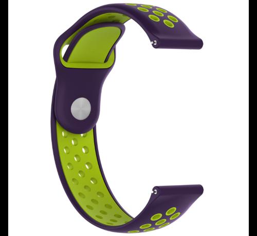 Strap-it® Strap-it® Garmin Venu 2 sport bandje - 45mm - paars/groen