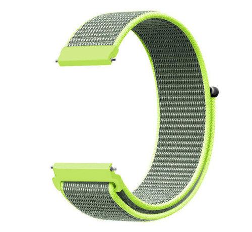 Strap-it® Strap-it® Garmin Venu 2 nylon band - 45mm - fluoriserend