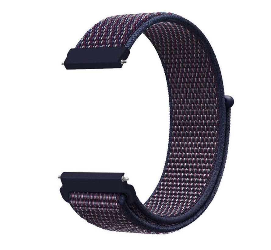 Strap-it® Garmin Venu 2 nylon band - 45mm - indigo/blauw
