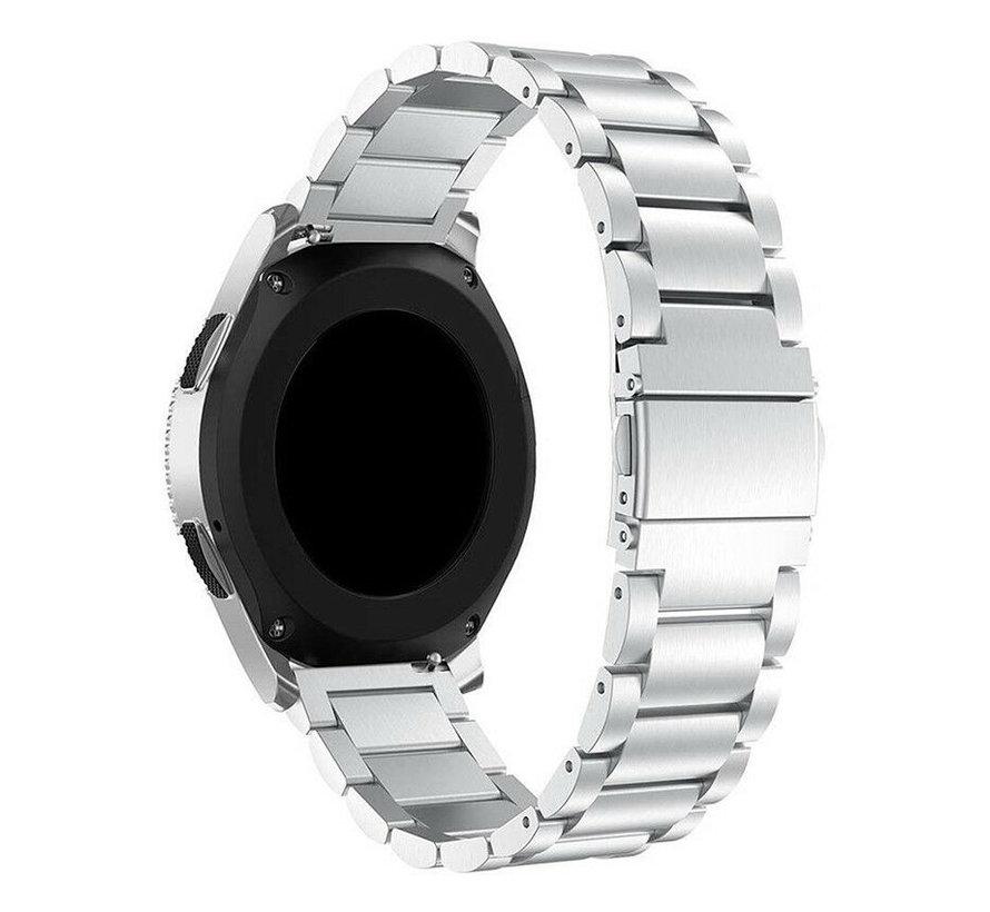 Strap-it® Garmin Venu 2 stalen band - 45mm - zilver
