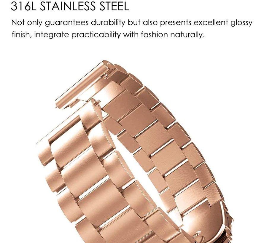 Strap-it® Garmin Venu 2 stalen band - 45mm - rosé goud