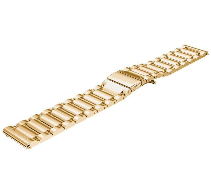 Strap-it® Garmin Venu 2 stalen band - 45mm - goud