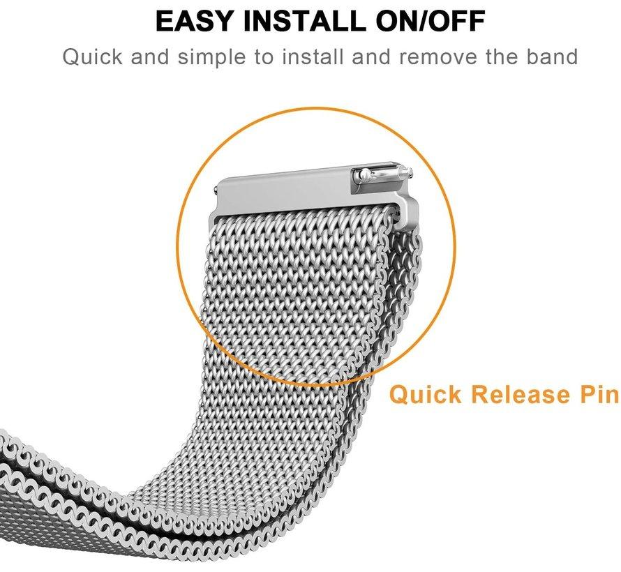 Strap-it® Garmin Venu 2 Milanese band - 45mm - zilver