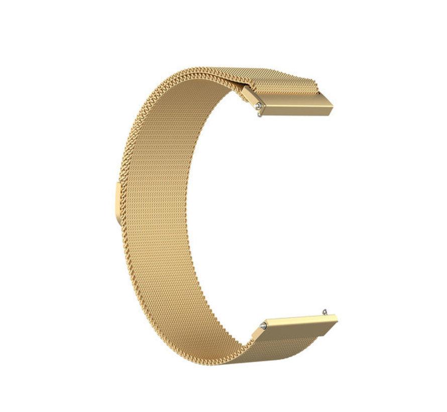 Strap-it® Garmin Venu 2 Milanese band - 45mm - goud