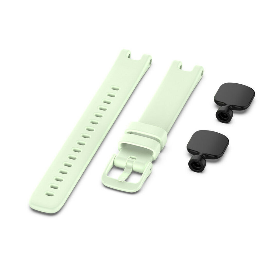 Strap-it® Garmin Lily siliconen bandje (lichtgroen)