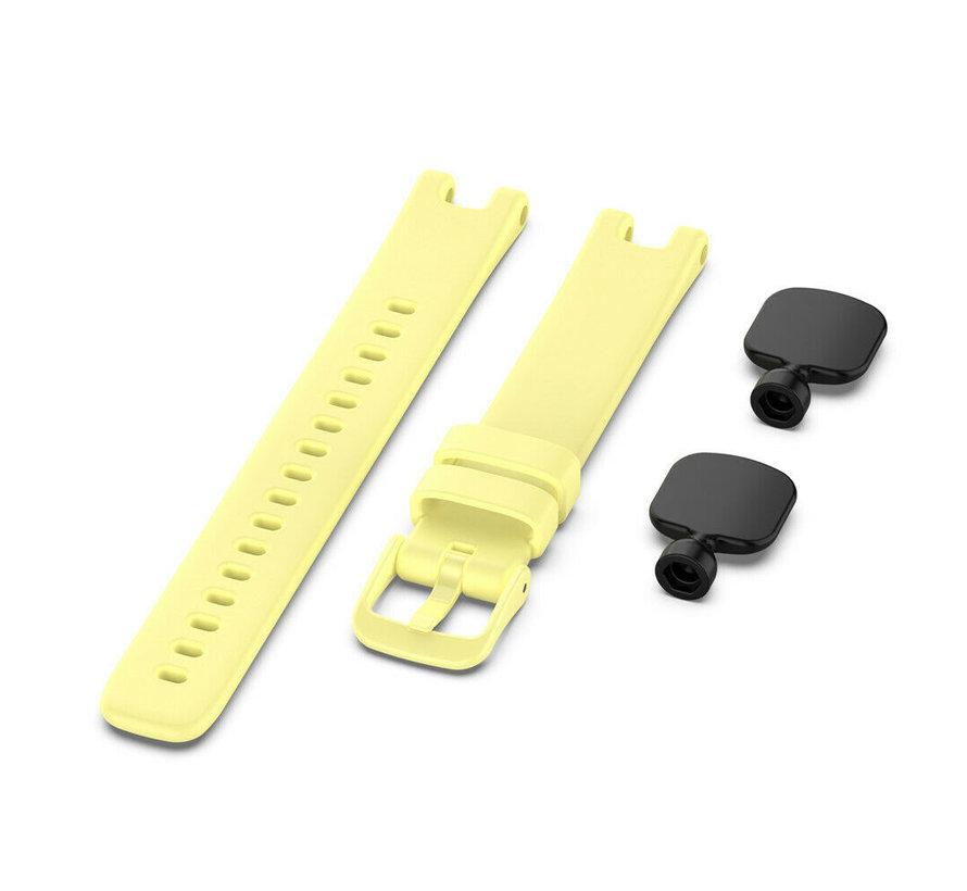 Strap-it® Garmin Lily siliconen bandje (geel)